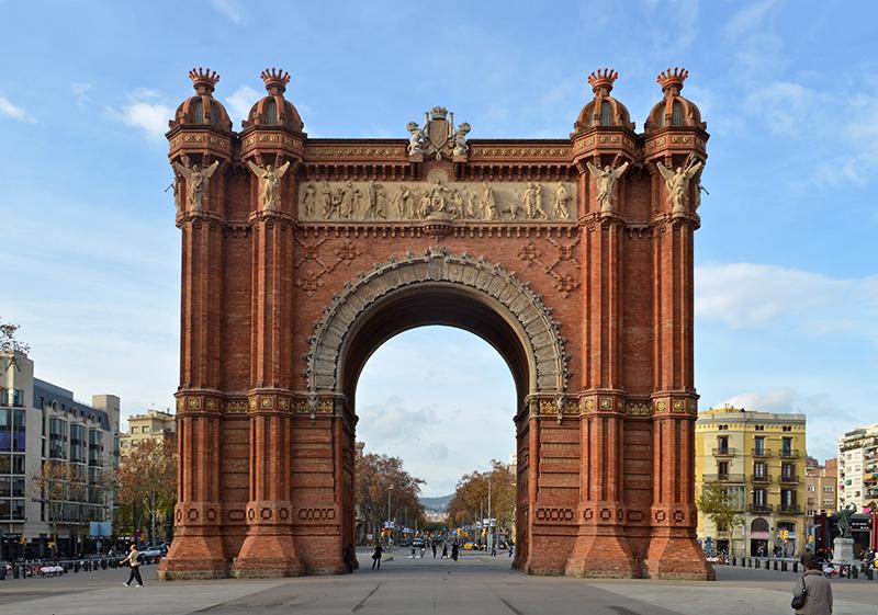 Arco do Triunfo em Barcelona
