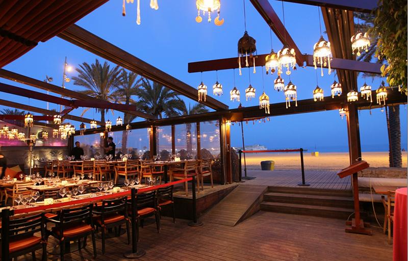 Área de restaurante da Balada CDLC em Barcelona