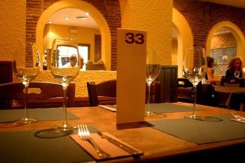 Restaurante El 33 em Barcelona