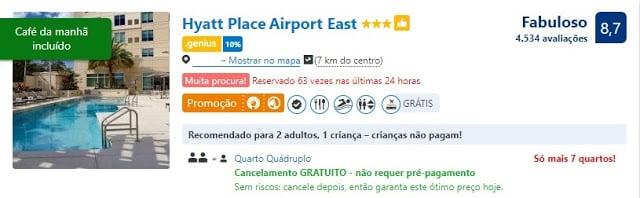 Hotel com cancelamento gratuito