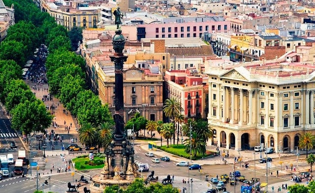 Região de Las Ramblas em Barcelona