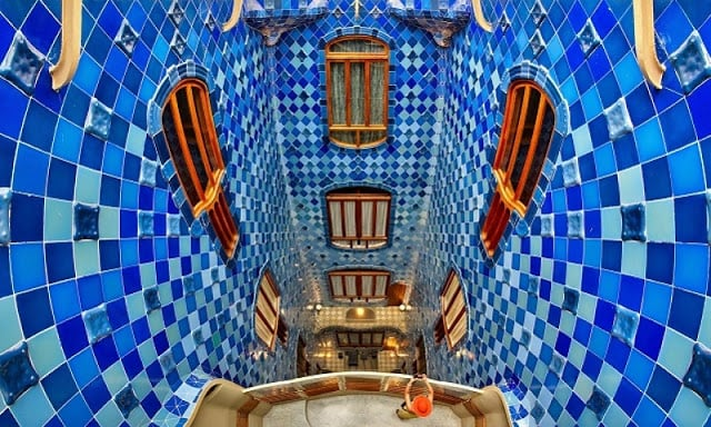 Vista interior da Casa Batlló em Barcelona