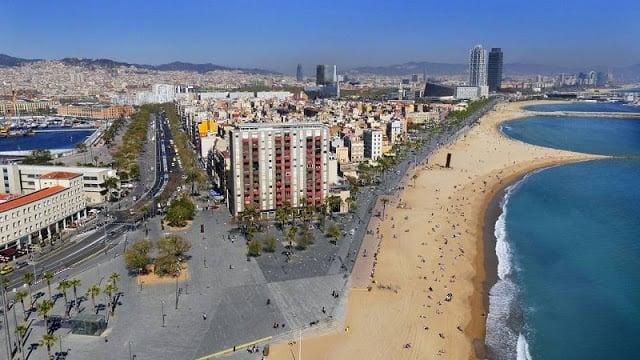 Região da Praia de Barceloneta