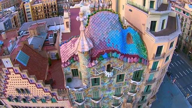 Vista da Casa Batlló em Barcelona