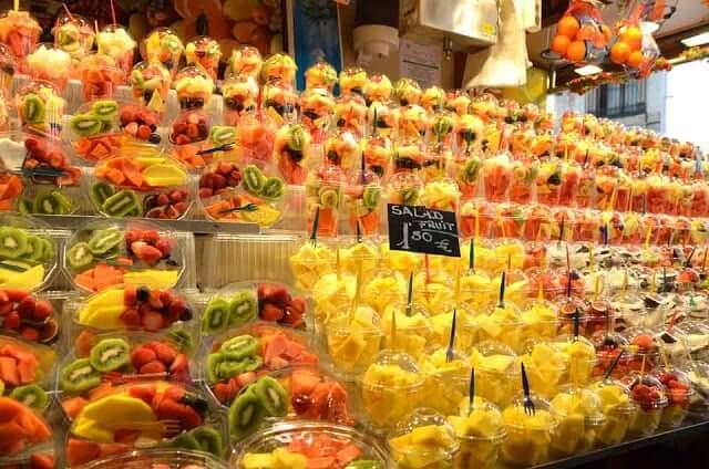 Frutas no mercado de La Boqueria