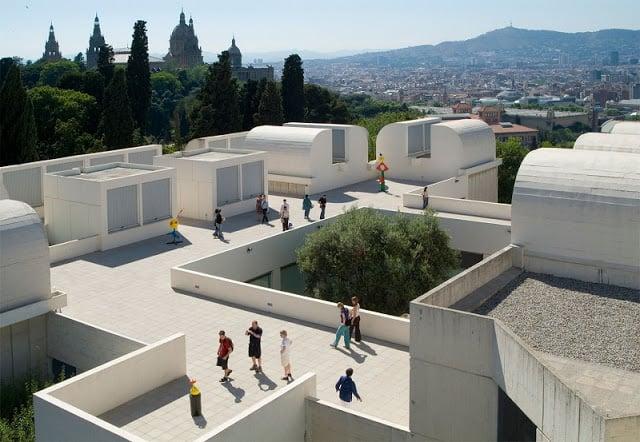 Exterior do Museu Fundació Joan Miró
