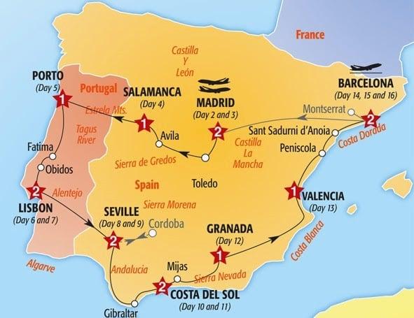 Roteiro de carro pela Espanha e Portugal