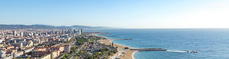 Praia de Llevant em Barcelona