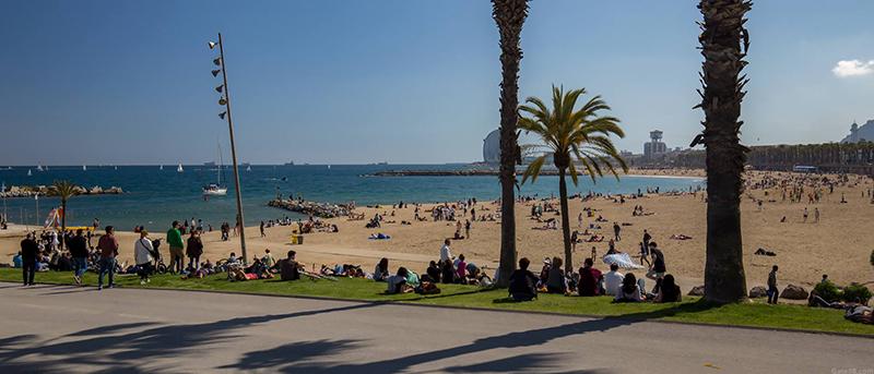 Praia de Somorrostro em Barcelona