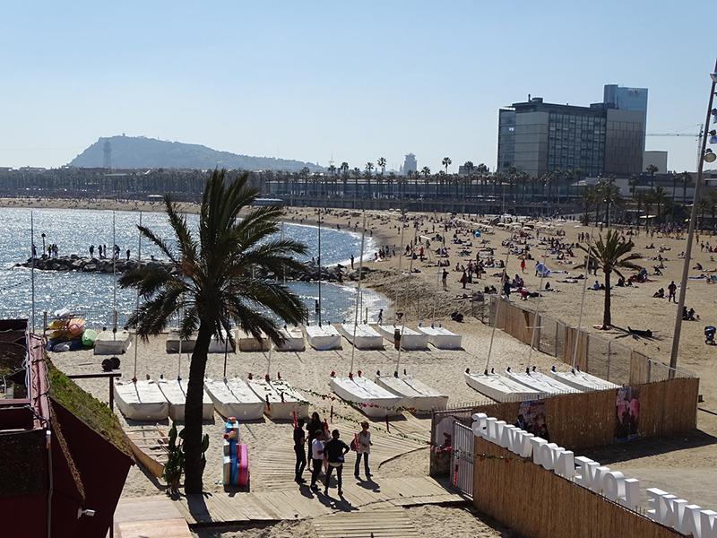 Estrutura da Praia de Somorrostro em Barcelona