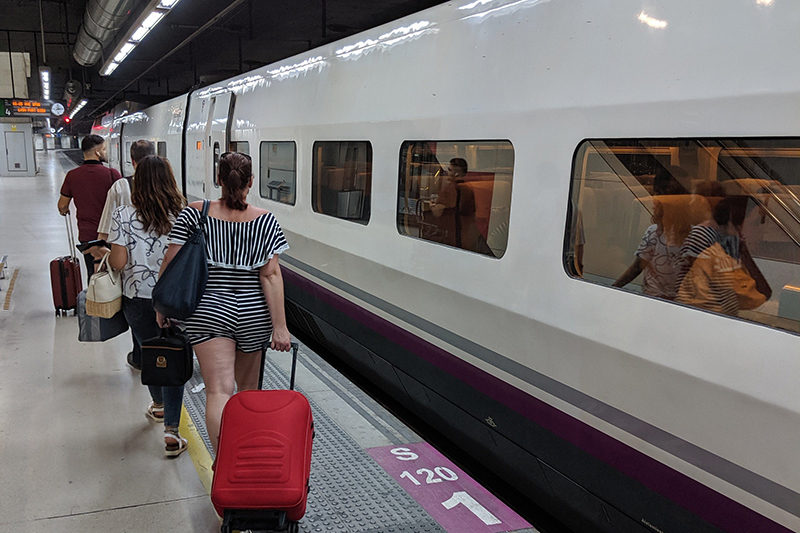 Trens AVE em Barcelona