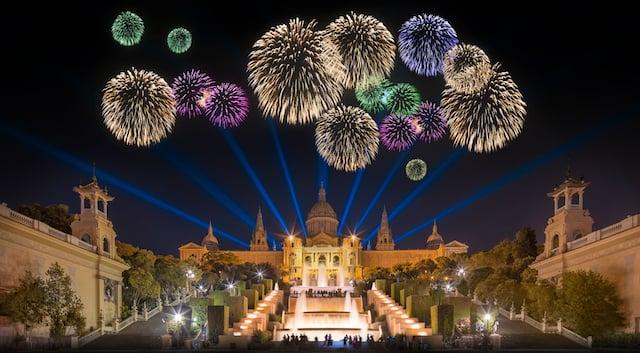 Fogo de artifício em Montjuic