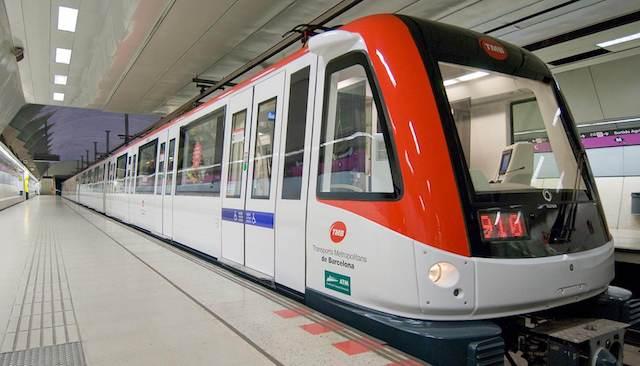 Metrô durante o Réveillon em Barcelona