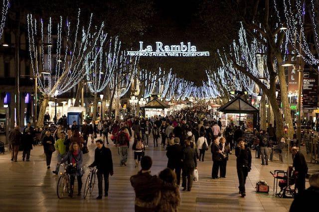 Inverno em Barcelona - Las Ramblas