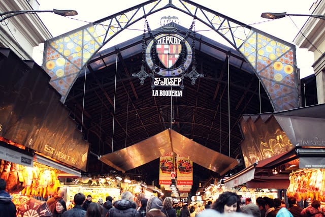 Mercado La Boqueria em Barcelona