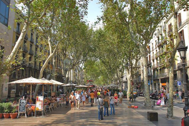 Passeio por Las Ramblas em Barcelona