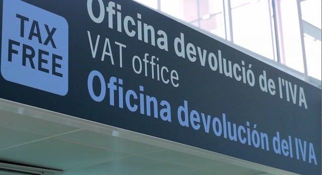 Cabine para a solicitação de Tax Free no aeroporto