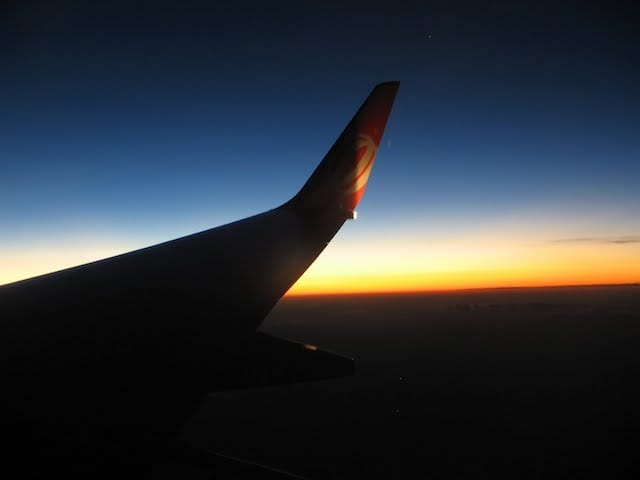 Voo noturno até Barcelona