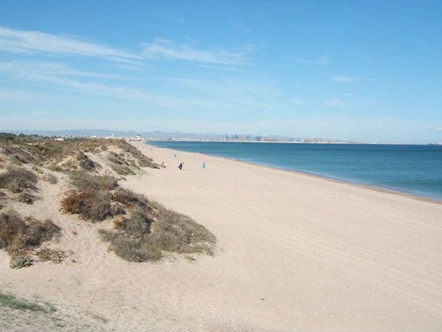 Praia El Saler em Valência