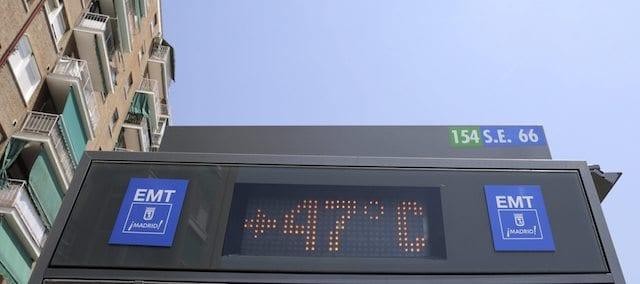 Verão em Madri - temperaturas máximas