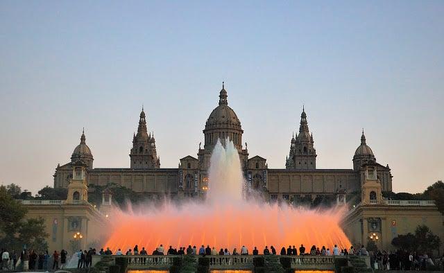 Show das Fontes de Montjuic em Barcelona