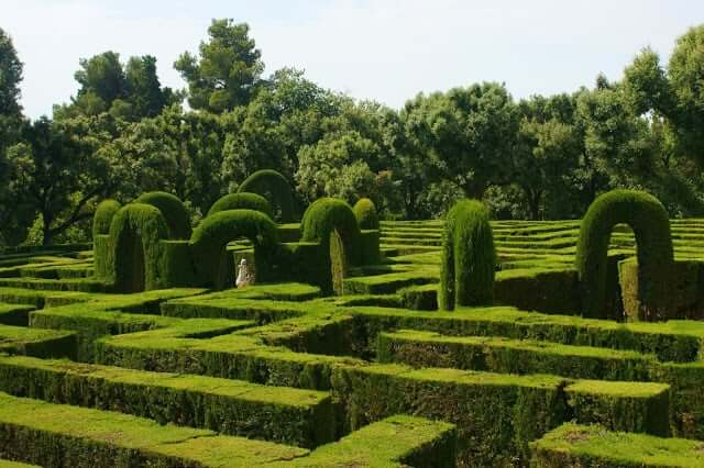 Jardim em Labirinto em Barcelona