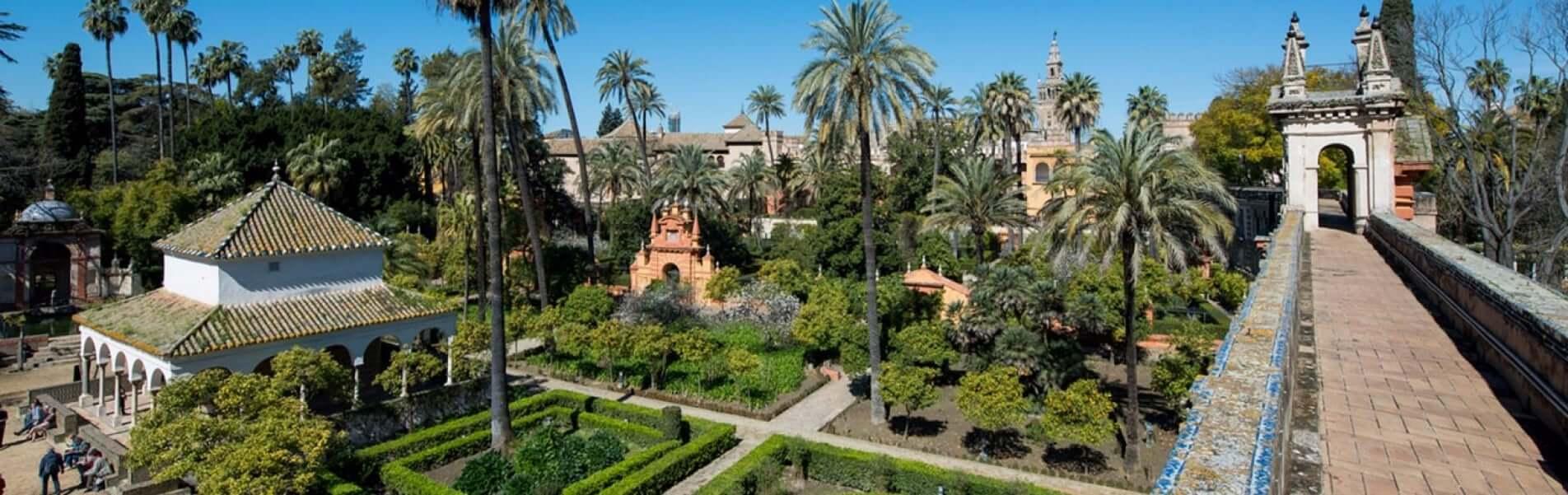 Espaço dos Reales Alcázares de Sevilha