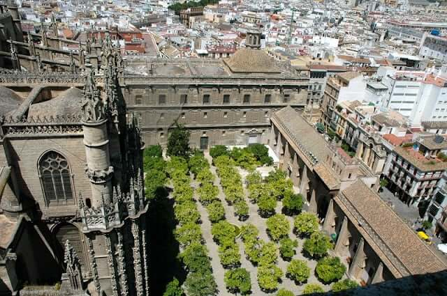 Vista aérea da Catedral de Sevilha