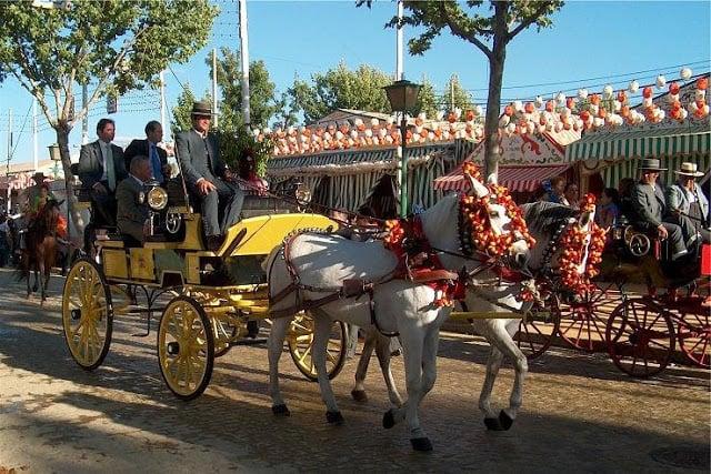 Carruagem na Feria de Sevilha