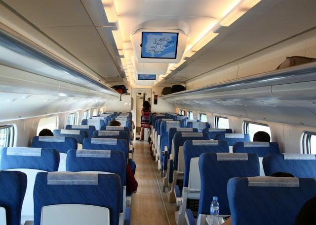 Interior trem na Espanha