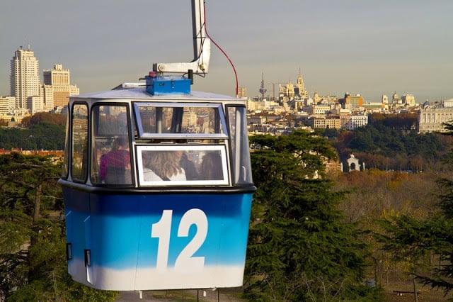 Teleférico em Madri