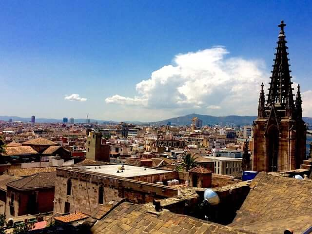 Vista da Catedral de Barcelona