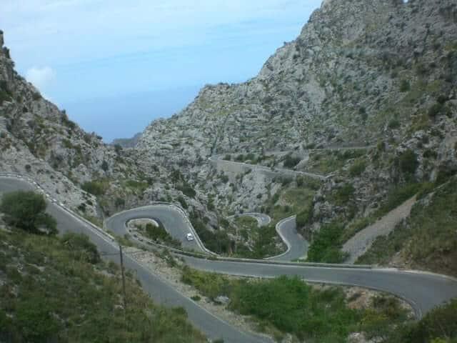 Estrada em Maiorca