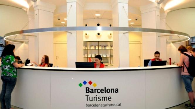 Informações de turismo na Plaça Catalunya