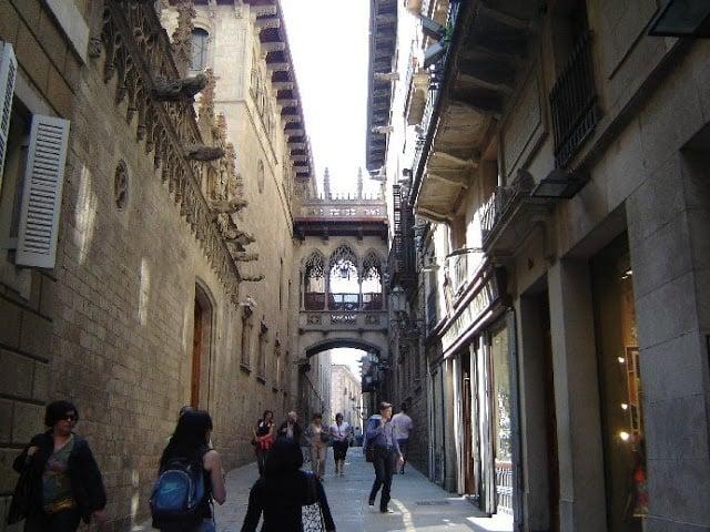 Rua do Bairro Góticoem Barcelona
