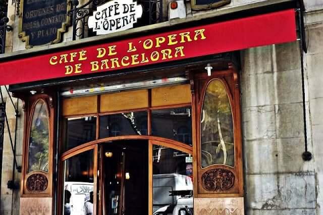Café de l'Ópera em Barcelona