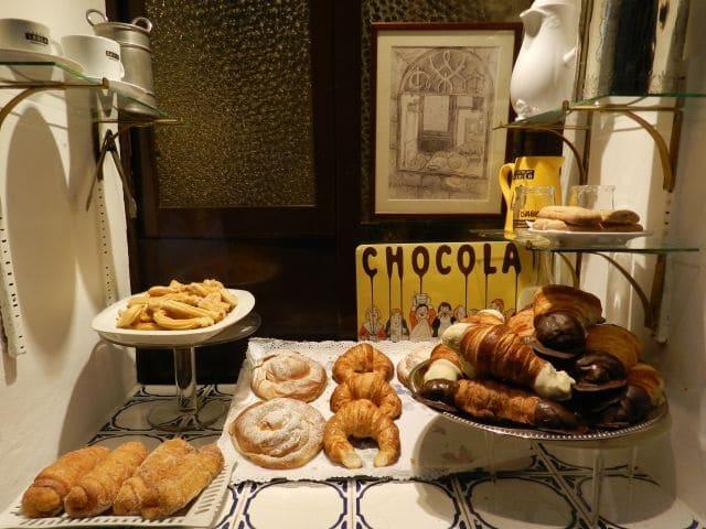 Lojas de chocolate no Carrer Petritxol