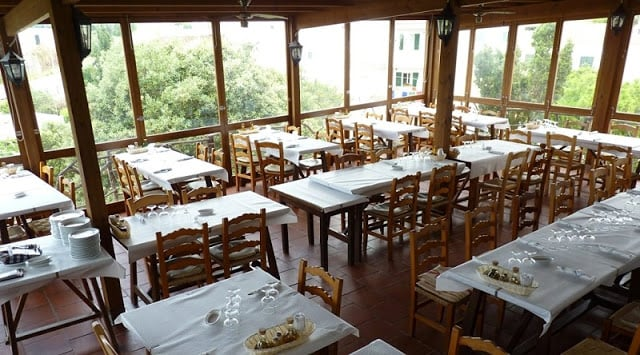 Restaurante Es Molí d'es Racó em Menorca