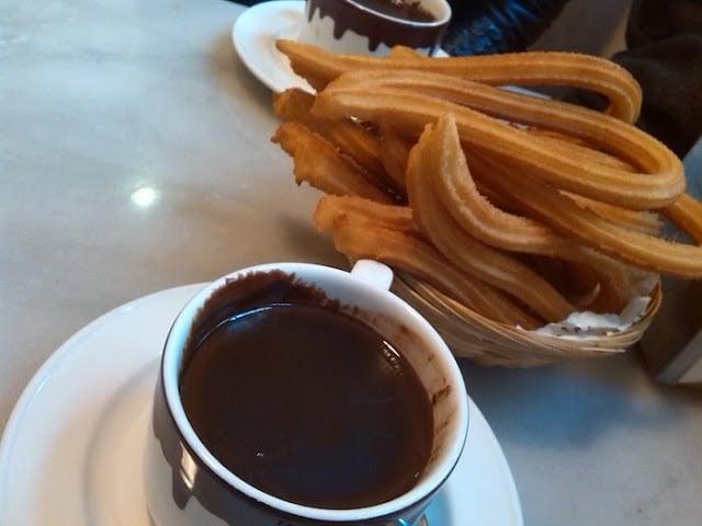Chocolate com churros em Madri