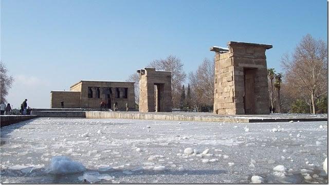 Madri nevado - Templo de Debod