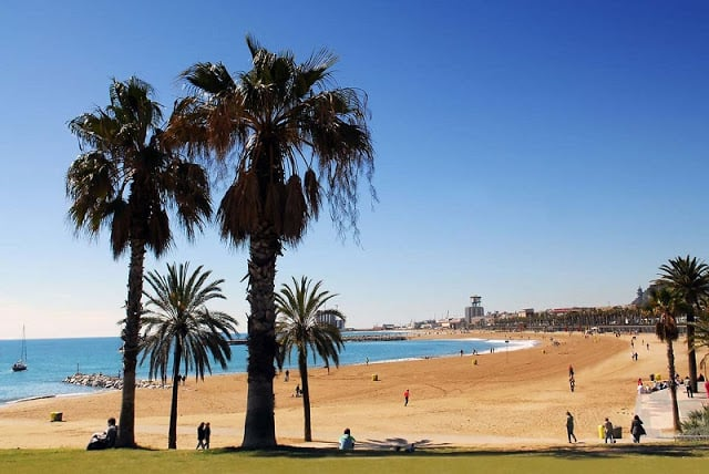 Praia Nova Icaria em Barcelona