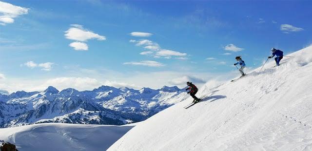 Esquiando em Baqueira-Beret