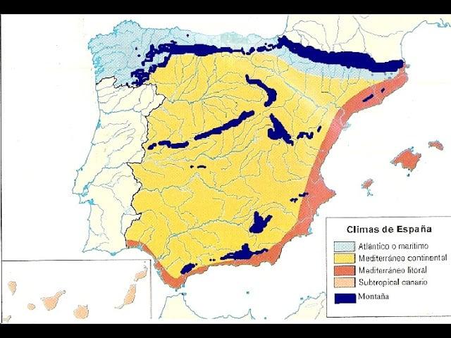 Gráfico do clima na Espanha
