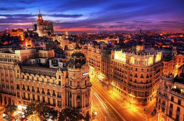 Vida noturna em Madri