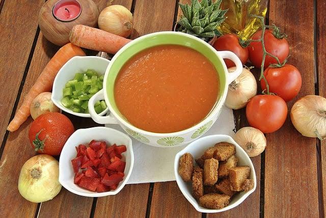 Sopa fria: Gazpacho