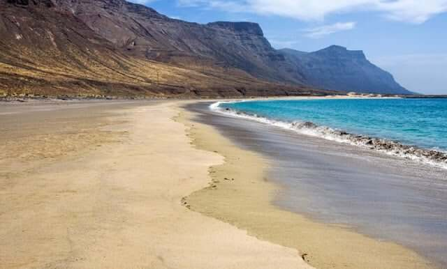Praia da Famara em Lanzarote
