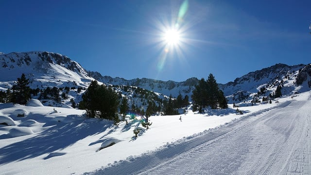 Estação de esqui na Espanha