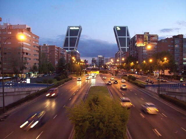 Bairro Castellana em Madri