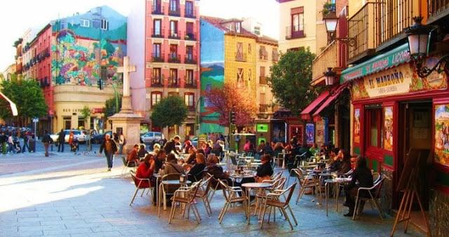 Bairro Chueca em Madri