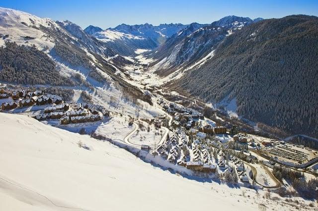 Estação de esqui Baqueira-Beret na Espanha